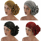 Womens Hair Loss Head Scarf Turban Cap Flower Muslim Cancer Chemo Hat Cover Lot