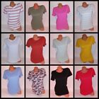 Victoria Secret PINK T Shirt Crew Neck Short Sleeve Womens Solid Perfect Fit