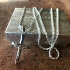 925 Sterling Silver Cross Crucifix Religious 24 Necklace Pendant