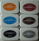 LOT OF 6 MEMENTO Dye Ink Pad VARIOUS COLORS Tsukineko Brand NEW Sealed