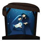 Outdoor Nativity Set Holy Night with Caption Options 45 x 45 with Stand