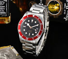 41mm sterile Black Bay SS case red Bezel Automatic Sapphire Glass Mens Watch
