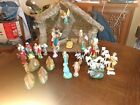 Vintage Antique Italian 46 Pc Nativity Set made in Italy with Manger