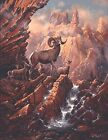Ted Blaylock Canyon Lake Bighorns Giclee on Paper 35x26