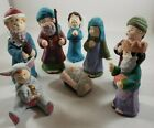 Vintage Holiday Home Accents Children Porcelain Nativity Christmas Set of Eight