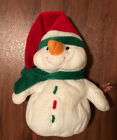 """BEANIE BABIES TYLUX PLUFFIES 14"""" ICEBOX the SNOWMAN 2007"""