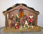 Vintage Nativity scene ceramic figurines 18 1 2 x 6 x 12 1 2 tall large
