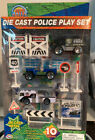 Die Cast Metal Police Play Set 10 Piece Agglo Corp