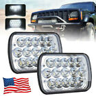 2Pcs DOT 45w 7x6 Led Headlights 5x7 Hi Lo Beam for Jeep Wrangler YJ XJ Chevy