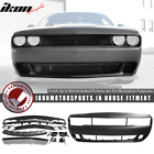 Fits 08-14 Dodge Challenger Front Bumper Cover Conversion w/ Grille - PP