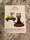 2019 Hallmark Ornament Limited Edition Scary Teddy and Undead Duck NIB!!!