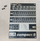 Emco Compact 8 Lathe Threading Change Gear Info Name Plate 0810