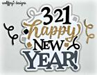 CRAFTECAFE NEW YEAR TITLE premade paper piecing scrapbook diecut piece page 3d