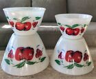 Cherries Milk Glass 4 Piece Splash Proof Mixing Bowl Set