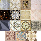 10Pcs 3D Unique Self adhesive Modern Diagonal Tile Stickers Wall Ground Decor