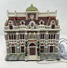 LEMAX Caddington Village House PUBLIC LIBRARY Exterior Lighted 55231, Retired