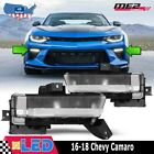 Fits 16 18 Chevy Camaro DRL Clear Fog Light Left Right PAIR Wiring+Switch Kit