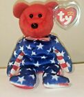 Ty Beanie Baby - LIBERTY the Patriotic Bear (Red Head Version)(8.5 Inch) MWMT