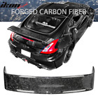 Fits 09 20 Nissan 370Z Z34 Forged Carbon Fiber Glossy CF Trunk Spoiler