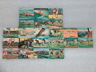 ANTIQUE PART OF SHEET 22 SPORTS DIE CUT SCRAPS1564 MADE IN GERMANY 1920 30