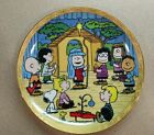The Peanuts Nativity 8 inch Plate By The Danbury Mint