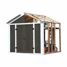 EZ Shed 3 Size Easy Assembly Bracket Framer 7 x 8 DIY Framing Kit Peak Style