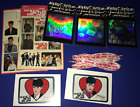 LOT vintage NKOTB New Kids On the Block STICKERS UNUSED+Hangin Tough SHOELACES