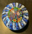 Large Vintage Hollow Murano Millefiori Crown Paperweight 3 1 2d x 2 7 8t