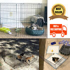 Puppy Playpen Folding Fence 24 Inch Tall Dog Bunny Kennel Play Pen 8 Panel Black