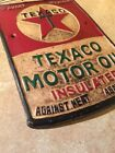 Texaco Sign Solid Metal Antique Style Oil Gas Advertisement Wet Patina Retro Ex