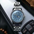 Oris Big Crown Pointer Date 40MM Blue Dial w/ Beads Of Rice & Oris Leather Strap