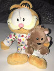 Goodnight Garfield In Pajamas Cat & Bear 2005 Plush Toy By TY Beanie Babies