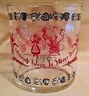 HAZEL ATLAS GREASE JAR WOMAN'S WORK IS NEVER DONE GLASS RED BLACK VINTAGE 4
