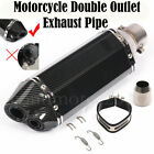Universal Motorcycle Dual Outlet Exhaust Muffler Tail Pipe for Exhaust 36-51mm