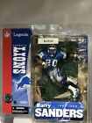 Nfl Legends Barry Sanders Autographed Detroit Lions Macfarlane Figure 1989-1998