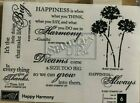 BRAND NEW UNMOUNTED STAMPIN UP  HAPPY HARMONY  SET OF 6 STAMPS