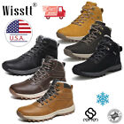 Mens Snow Boots Hiking Shoes Casual Waterproof Ankle Work Boots Outdoor Winter
