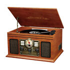 Record Player W Speakers 6 in 1 Nostalgic Bluetooth 3 Speed CD Cassette FM Radio