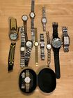 Large Bundle Of 12 Watches Ladies Mens Accurist Lorus Guess DKNY Sekonda F Hinds