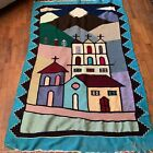 Native American Mexican Wall Hanging Tapestry Fringe Native Folk Art Tribal READ