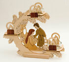 Nativity Scene Wooden German Christmas Candle Holder Made in Erzgebirge Germany