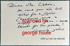 CARL THEODOR DREYER AUTOGRAPH NOTE CUKOR POODLE PASSION OF JOAN OF ARC