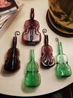 Vintage Glass Cello Bud Vases Lot of 5