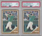 2011 TOPPS HERITAGE MINOR LEAGUE CHRISTIAN YELICH RC #49 PSA MINT 9 LOT 2 CARDS