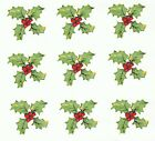 42 Red Holly Berry Leaf Red Berry 3 4 X 3 4 Waterslide Ceramic Decals Xx