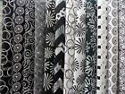 Assorted Black and White Fabric 30 Pc Jelly Roll 25 x 44 Quilt Shop Quality