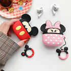 Disney For Apple Airpods Pro Charging Case Minnie Mickey Silicone Ring Cover