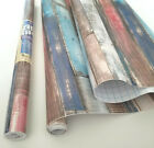 9ft Roll Distressed Wood Planks decorative self adhesive contact paper