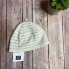 Janie and Jack White and Gray Striped Knit Beanie 3-6M Infant Baby Hat