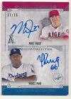 MIKE TROUT YASIEL PUIG 2015 TOPPS MUSEUM DUAL ON CARD AUTOGRAPH SP AUTO #11 15